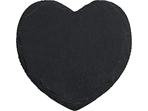 Creative Tops Heart Shaped Slate Coasters, Set of 4