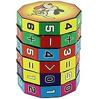 Diseño Divertido Mini 3D para niños Cubo Digital 6 Capas Inteligente Puzzle Número Divertido Matemáticas para niños Diversión Educación Juguete