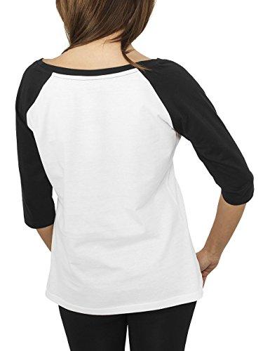 Urban Classics T-Shirt Femme Mehrfarbig (wht/blk 224)