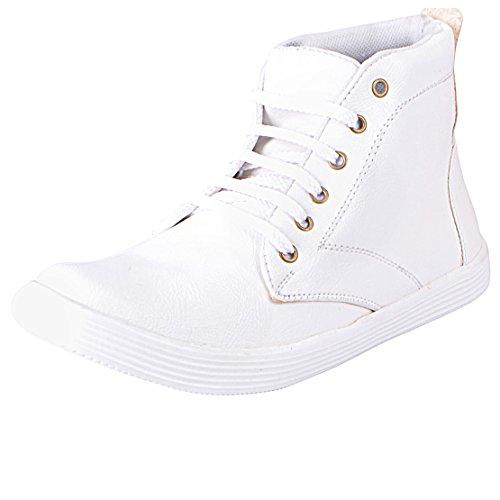 Fausto Fst 1051 Men's White Synthetic Sneaker (43)