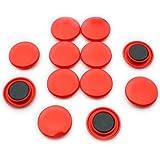 Magnet Expert F4M40-RED - Imanes de sujeción (40 x 8 mm, 12 unidades), color rojo