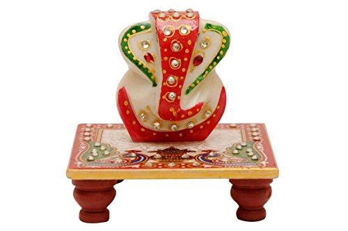 Santacart Marble Chowki Ganesh  available at amazon for Rs.155
