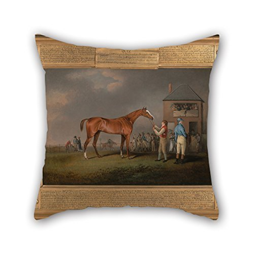 beautifulseason Oil Painting Henry Bernard Chalon - Quiz, After His Last Race at Newmarket Pillowcase 16 X 16 Inches/40 by 40 cm Gift or Decor for Boys,Relatives,him,Monther,Teens,Drawing Room - Floyd Shell