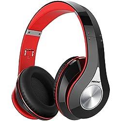 Mpow 059 Casque Bluetooth sans Fil,Casque sans Fil CVC 6.0 Over-Ear Compatible Pliable,Casque Audio 25 Heures avec Microphone Appel Mains Libres Intégré Casque Bluetooth pour Téléphones/Tablette