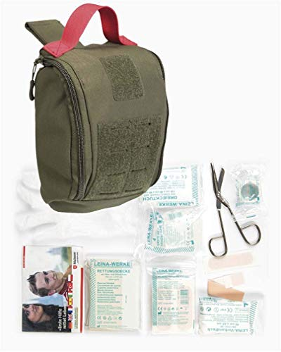 BKL1® IFAK Pouch Erste Hilfe Set Oliv First Aid Medical Set Molle BW Outdoor 1856 - Molle Medical Pouch