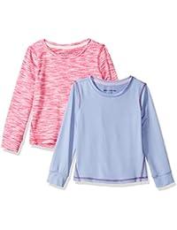 Amazon Essentials Baby-Mädchen 2-Pack Long-Sleeve Active Tee