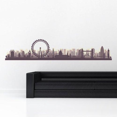 STICASA - 'LONDON SKY LINE 3D' - Wall stickers - Wandtattoo Wallsticker - aufkleber - decal