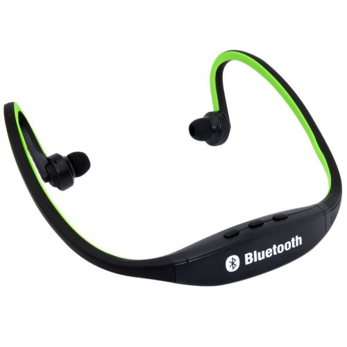 Captcha MPBL-020 Wireless Bluetooth Sports MP3 Player with FM/MicroSD Card Slot Functions (Green)