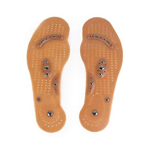 3 Par Magnética Plantillas Masaje De Pies Reflexología InsolesTherapy Alivio del Dolor Y Lavables Zapato Cuttable Plantillas Adecuadas para La Mujer Y El Hombre