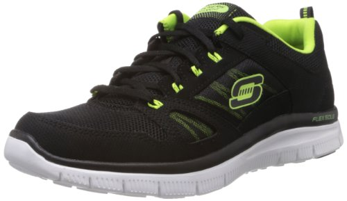Skechers Flex Advantage Tune In, Sneaker uomo, Schwarz (Bklm), 45 (10 UK)