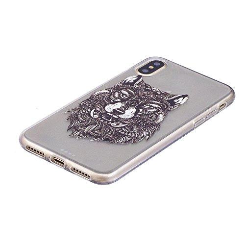 Ultradünne transparente Hülle für Apple iPhone X / iPhone 10 5.8 Zoll 2017 Hülle Schutzhülle Handy TPU Silikon Hülle Case Cover Durchsichtig Gel Tasche Bumper ( + Stöpsel Staubschutz) (14) 11