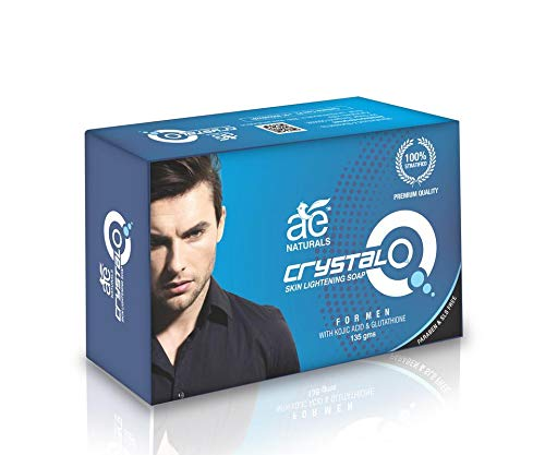 AE NATURALS Crystal Q Skin Whitening Soap For Men With Kojic Acid 1 X 135g