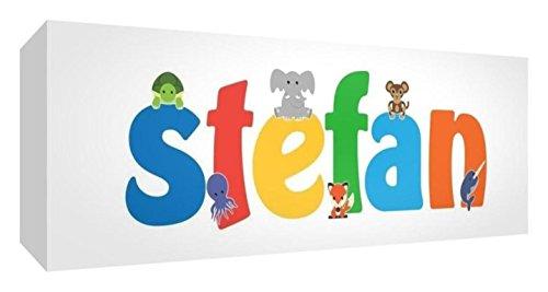 Little Helper de Stefan 515blk 15de Diamant poli Baby andenken/jeton, personnalisé avec le nom jeunes, Stefan, petit, 5 x 15 x 2 cm