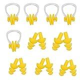 ZYHstore Unisex Silikon Schwimmen Ohrstöpsel/Ohrenplugs und Nasenklammer/Nasenclip Set Ergonomisch Entwurf Nasen Ohr Schutz für Erwachsene und Kinder