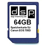 DSP Memory Z-4051557435988 64GB Speicherkarte für Canon EOS 700D
