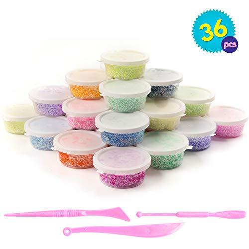36 Tubos Arcilla Brillantina Modelar - Colores surtidos