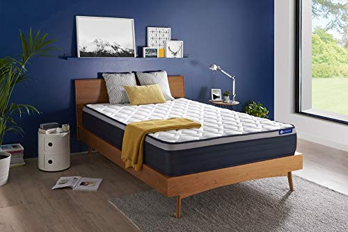 Matelas Actiflex Max 140 x 190 cm Ressorts ensachés et mémoire de Forme - Epaisseur : 26 cm - Confort : Ferme - 7 Zones de Confort
