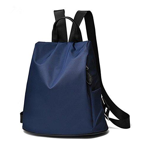 HQYSS Borse donna Tinta unita Casual coreano donne studente Nylon Backpack Tote Bag , big red deep blue