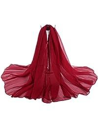 Bel Avril Elégante écharpe/Châle/Foulard/Etole Pashmina en grande taille 175CM *140cm unicolore - beaucoup de Choix des couleurs en Soie artificiel