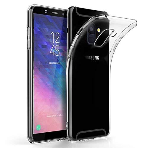 Conie Silkon Rückschale Transparent, Case Für Samsung Galaxy A6 Plus - Flexibles Cover, Druckknöpfe Rutschfest, Galaxy A6 Plus Durchsichtig Klare Schutz- Hülle