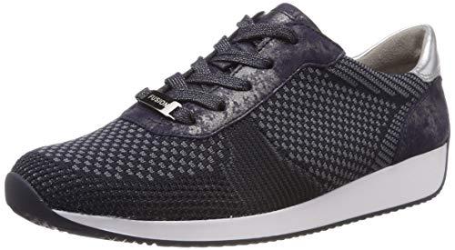 ara Damen LISSABON Sneaker Grau, Blau/Silber 08), 40 EU