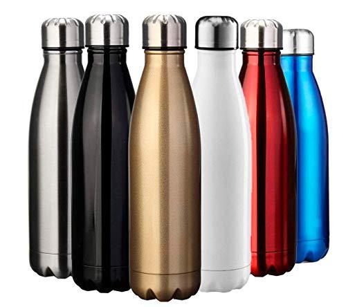 Yooger Edelstahl Trinkflasche, Sport Wasserflasche Thermosflasche fur Camping Reise, Haelt Getraenke 12 Stunden Kalt & 24 Heiß BPA Frei - 350ml/500ml/750ml/1000ml (1L, Blau) - Bier Leere Flaschen