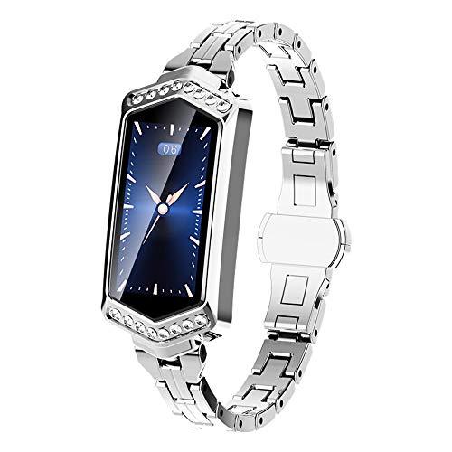 B78 smart band donna fitness bracciale heart rate tracker monitor pressione arteriosa ossigeno smart braccialetto migliore regalo per la fidanzata,silver