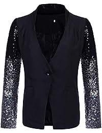 0bee587bd087 CYSTYLE Damen Casual Anzugjacket Blazer Jacket mit Pailletten Design