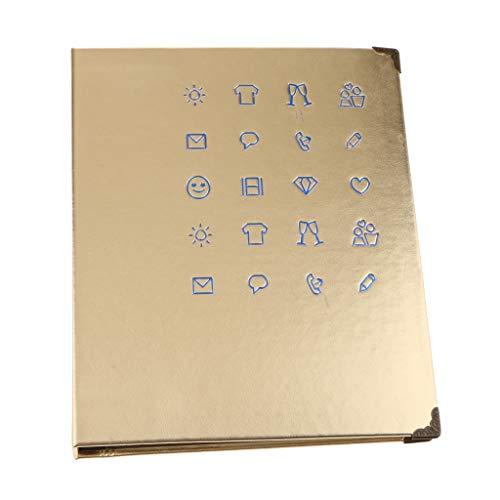 D DOLITY 150 Taschen PU Leder Binder Spule Fotoalbum für 3-Zoll Polaroid Filme, Fotobuch Ticket Album Gästebuch, Gold