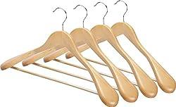 Wooden Suite Coat Hanger Pack of 4
