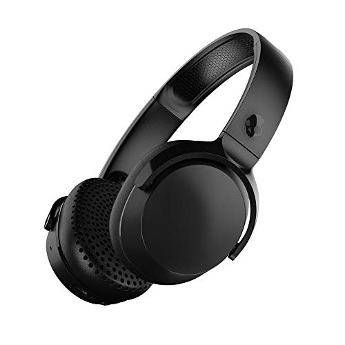 Skullcandy Riff Wireless On-Ear Headphones with Microphone, Bluetooth Wireless, Rapid Charge 10-Hour Battery Life, Foldable, Plush Ear Cushions with Durable Headband, Black
