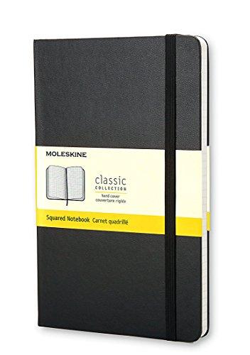 Moleskine Klassisches Notizbuch Pocket, Hardcover, kariert, schwarz