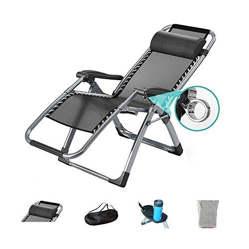 Deck-kissen-lagerung (CCDZDM Schaukelstuhl Zero Gravity Chair Outdoor Lounge Patio Stuhl Mit Kissen Und Utility Tray Verstellbarer Klappstuhl Für Deck, Strand, Hof, Balkon-Optionales Kissen (Farbe: Stuhl + Matte), B, A)
