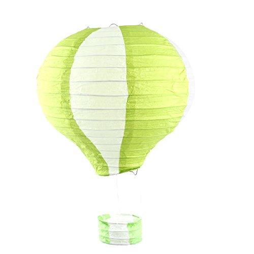 Handgefertigte Lightless Heißluft-Ballon-Laterne Grünweiß der Partei-Papier-DIY