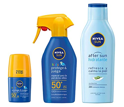 Kit Nive Sun infantil con spray solar FP50+, roll-on solar protege & juega FP50+ y loción hidratante after sun por 21,50€ ¡¡32% de descuento!!
