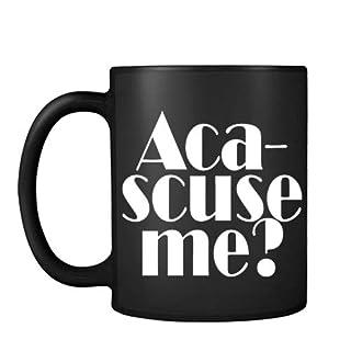 ACA Scuse Me Themed Funny 11oz Black Satin Mug Christmas Gift Mug.
