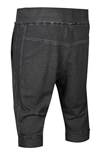 trueprodigy casuale uomo pantaloncini tuta uni semplice, abbigliamento urban moda vintage (sweat short & slim fit classic), jogger moda vestiti colore: grigio 6472102-0403 Anthracite