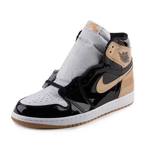 Air Jordan 1 Retro High OG NRG Schuhe Sneaker Neu (EUR 45 US 11 UK 10, Black/Black.Metallic Gold) (Retro Jordan 11 Schuhe Für Männer)