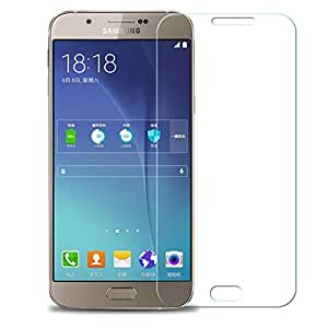 Wellmart Tempered Glass For Samsung Galaxy A8 With Alcohol Wet Cloth Pad & Clean Micro Fibre Dry Cloth, Anti Explosion Tempered Glass Screen Protector For Samsung Galaxy A8