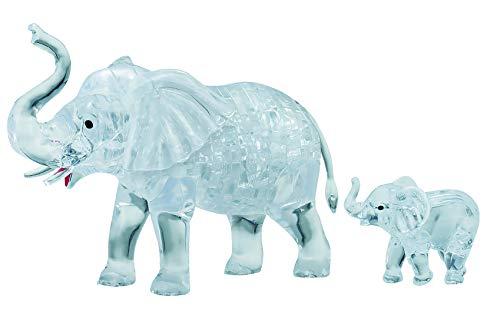 Unbekannt Crystal Puzzle 591763D Elefante par 46Piezas, Gris