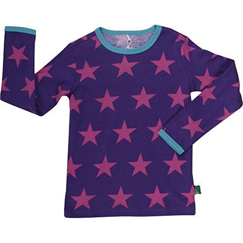 Fred's World by Green Cotton Mädchen Langarmshirt Star T, Gr. 116, Violett (Purple 019354201)