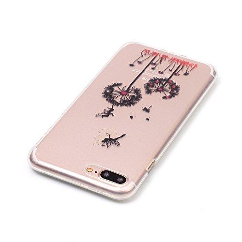 iPhone 7 Plus Coque,iPhone 7 Plus Cover,iPhone 7 Plus Silicone Case - Felfy Ultra Light Mince Slim Gel Souple Soft Flexible TPU Cas Color Motif Couvrir Protector Housse Anti Scratch Couverture de Prot Pissenlit