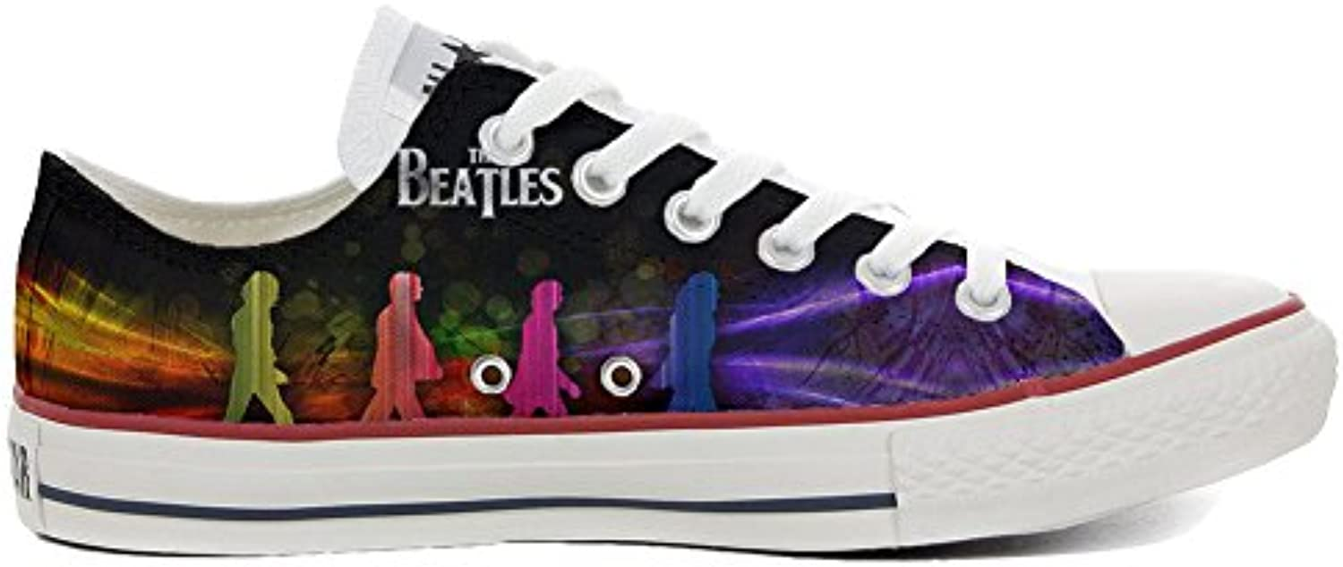 Converse All Star Personalisierte Schuhe (Custom Produkt) Slim The Beatles