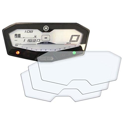 3 x YAMAHA MT-07 / FZ-07/ 700 Tracer Displayschutzfolie Tachoschutzfolie Screen Protector - Anti-Glare Kit Anti Glare Screen Protector