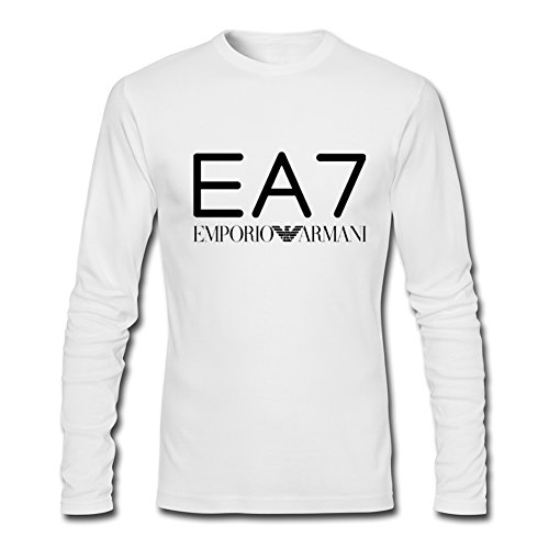 Emporio Armani Ea7 For 2016 Mens Printed Long Sleeve tops t shirts