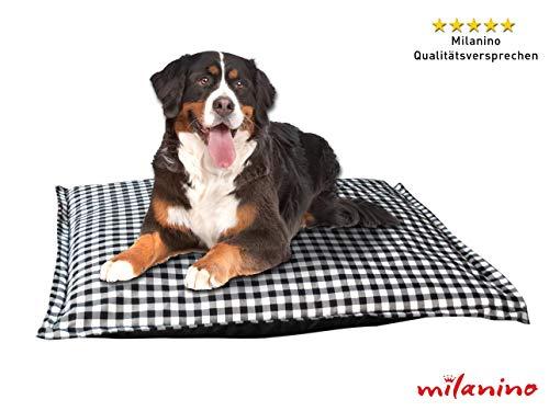 Milanino Hundebett Tierbett Hundekissen Schlafplatz Hundematratze Katzenbett S - L - XXL, einfache Reinigung (Groß)