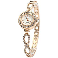 XIN&ZA IE-LY Female Diamond Bezel Quartz Chain Watch Cool Watches Unique Watches