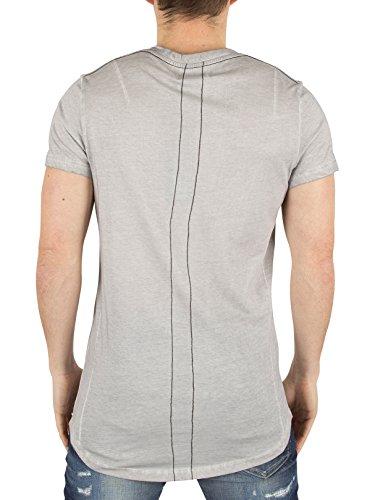 Religion Herren Oil-Wash-Logo-T-Shirt, Grau Grau