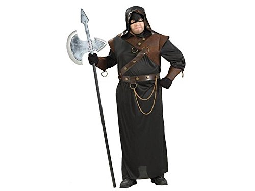shoperama Herren-Kostüm Vollstrecker Henker Scharfrichter Foltermeister Kerkermeister Halloween, Größe:M/L