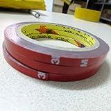 StickersLab - Nastro Marca: 3M VHB Biadesivo schiuma acrilica automotive interno ed esterno (Misura - 6mm x 3 Metri)